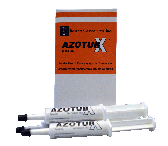 A box with 3 syringe fill with AZOTURX is a high potency B-vitamin complex supplement formulated with added herbal ingredients to support healthy muscle function.