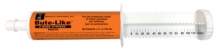 A Syringe fill with Bute Like Paste great for the temporary relief of minor soreness and stiffness due to overexertion.