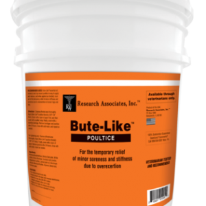 An orange bucket. Fill with Bute Like Poultice which is great for the temporary relief of minor soreness and stiffness due to overexertion.