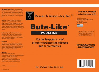 Bute like poultice label