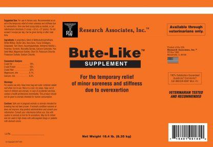 Bute-Like Gel supplement label